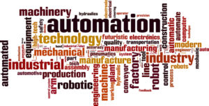 Automation word cloud concept. Vector illustration